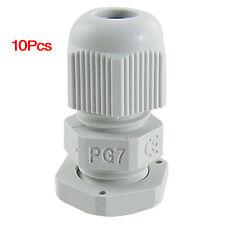 3-6.5mm Cables PG7 Waterproof Wht Plastic Glands 10 Pcs AD