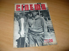 RIVISTA CINEMA NUOVA SERIE N.20 AGOSTO 1949 GREGORY PECK LOLLOBRIGIDA C.LOMBARD