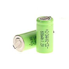 2pcs colore verde Ni-cd 600mAh 1.2V 2/3AA BATTERIA RICARICABILE NiCd/NiMH