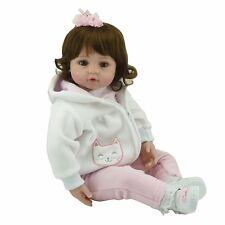 22in Handmade Reborn Baby Doll Newborn Lifelike Soft Silicone Vinyl Toddle Girl