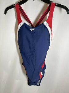 Speedo Women's Swimsuit One Piece Creora Highclo Quantum Splice High Cut Solid,8