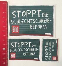 Aufkleber/Sticker: Bild - Stoppt Die Schlechtschreib-Reform (06061651)