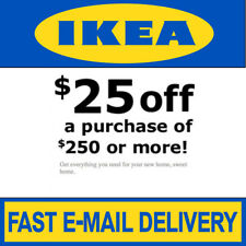 IKEA Coupon $25 Off $250 Valid on ANY Purchase In Store ONLY Exp 02/03/20 80DAYS