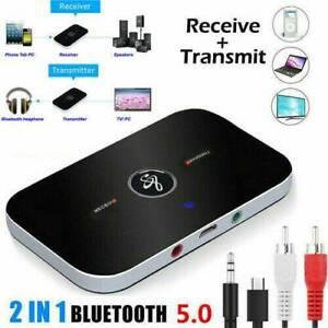 Récepteur émetteur audio sans fil Bluetooth V5.0 Adaptateur musique HiFi RCA SH