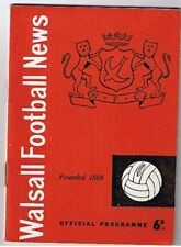 Walsall v Bury 1961/2 (17 Mar)