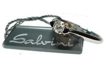 Anello Solitario oro bianco e giallo con diamante 15 - Salvini - OUTLET - SALDI
