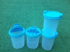 Modular Mate Tupperware  Set of 4 Rounds #2 Blue Pour or Shake Seals New
