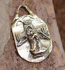 Guardian Angel Shall Guard You Pendant in Sterling Silver