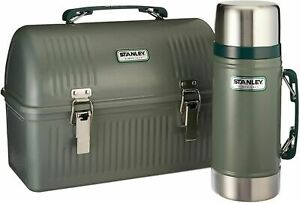 Stanley Lunch Box 10 Qt & 24 oz Vacuum Food Bottle Jar Container Combo Travel