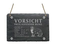 wetterfeste Schiefertafel  « BERNER SENNEN » Vorsicht - freilaufender Hund