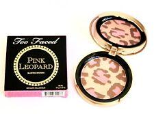 TOO FACED Pink Leopard BLUSHING BRONZER .31 OzFullSz NEW wBOX FREE SAME DAY SHIP