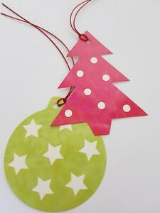 """christmas gift tags pack of 10 by STARLIGHT """"bauble / tree""""  [t-6] new"""