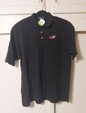 VTG Deadstock eBay Black Polo Shirt Mens XL