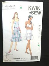 Summer Dress Sewing Pattern Kwik Sew 3415 Uncut FF Tiered Sundress Misses XS-XL