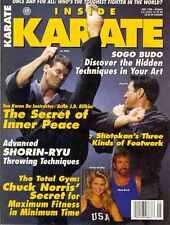 Inside Karate May 1998 Chuck Norris & Christy Brinkley & J.D. Rifkin & Steve Ito