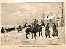 Original-Holzschnitte (1800-1899) aus Russland mit Militär- & Schlachtmotiven