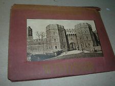 Antique Pamplet 12 Pictures fold out of WINDSOR CASTLE  Vintage mail package x
