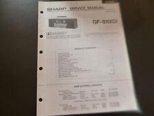 Original Service Manual Schaltplan  Sharp GF-810