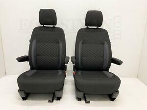 VW T6.1 T6 Multivan Komfort Fahrersitz & Beifahrersitz Sitze Stoff Life Schwarz
