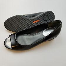 COLE HAAN Black Patent Leather Slip On Wedge Heels Shoes Women's US 6 B Medium