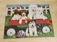 Big Ben 500 Piece Jigsaw Puzzle Puppy Play Date Beagle Husky Dogs 100% Complete