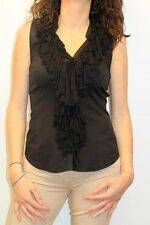 CAMICIA PINKO DONNA SHIRT WOMAN FEMME БЛУЗКА, DRIVE IN NERO MIS.44 PP nv