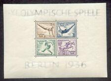 dr-3.reich Olimpiada 1939 BLOQUE 5z CARTULINA Perfecto Estado (g2315