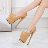 Women's Stiletto Shoes Sandals Platform Pumps Super High Heels Slip On Nightclub