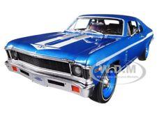 1969 CHEVROLET YENKO NOVA COUPE BLUE LTD 1002 PCS 1/18 DIECAST AUTOWORLD AMM1135