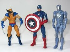 Marvel Avengers Toy Figura Set Wolverine Vs Captain America & Iron Man