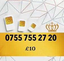 New Pay As You Go Platinum VIP Gold Easy UK Mobile Number 0755 755 27 20