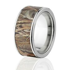 Official Licensed Realtree Max 4 Rings, Titanium Camouflage Band
