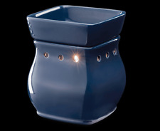 Satin Navy classic Scentsy New Full Size wax Warmer Burner Retired