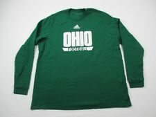 Ohio Bobcats adidas Long Sleeve Shirt Men's Green Cotton Used 2XL