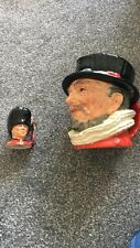 Royal Doulton Beefeater And Guardsman Toby Jugs