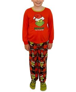 The Grinch Matching Boys Grinch 3pc Family Pajama Set Size 4-5
