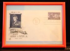 #1026 General George Patton Fdc In Frame For Desk Or Wall Free Shipping