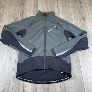 Cannondale Chrono Mens Gray Black Long Sleeve Full Zip Jacket Size L Large