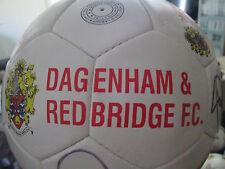 Dagenham y redbridge 2012-2013 Squad Firmado Fútbol con FLT Carta de Caridad