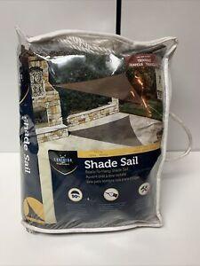 Coolaroo Ready-To-Hang Shade Sail Triangle Mocha 13Ft X 13 Ft X 13 Ft Open Box