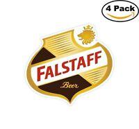 Falstaff Beer Alcohol Decal Diecut Sticker 4 Stickers