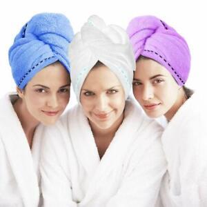 Microfiber Hair Towel Turban Wrap 3 Pack - Laluztop Anti Frizz Absorbent & Soft