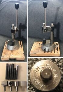 VIGOR Opticians Watchmakers Staking Tool Press (Plus Ten Attachments) - Working
