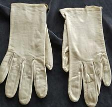 Vintage Fownes Leather Bright Washable Ladies Gloves Wrist Length - Gdc - 6.5