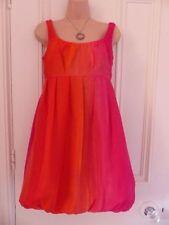 Round Neck Dresses Size Petite for Women with Bubble Hem
