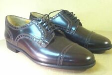 Vintage Barrington Mens Leather Wingtip Oxford 7.5D Dark Brown Burgundy Shoes