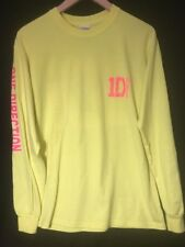 1D One Direction Long Sleve T Shirt  Safety Neon Green Medium VGUC