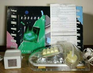 Vintage 1989 Roxanne Clear Lucite Blue Neon Phone Cicena Manuneon