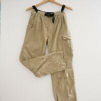 ExOfficio Mens Pants Outdoor Athletic Tan Beige Nylon Buckle Elastic Waist Small