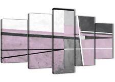 5 PEZZI Grigio Lilla dipinto astratto Camera Da Letto decorazioni in tela - 5395 - 160 cm